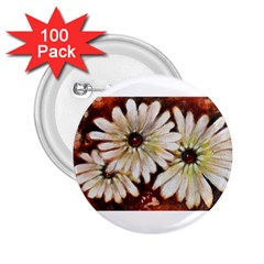 Fall Flowers No  3 2 25  Buttons (100 Pack)