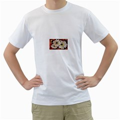 Fall Flowers No. 3 Men s T-Shirt (White) (Two Sided)