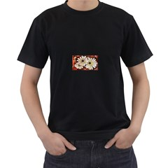 Fall Flowers No. 3 Men s T-Shirt (Black) (Two Sided)