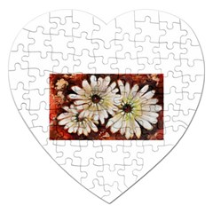 Fall Flowers No  3 Jigsaw Puzzle (heart)