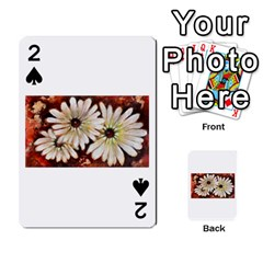 Fall Flowers No. 3 Playing Cards 54 Designs