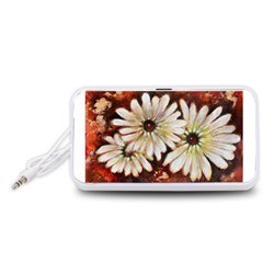 Fall Flowers No. 3 Portable Speaker (White)