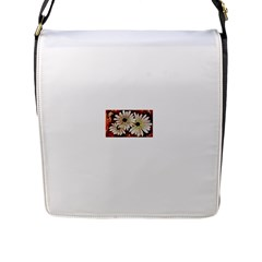 Fall Flowers No  3 Flap Messenger Bag (l)