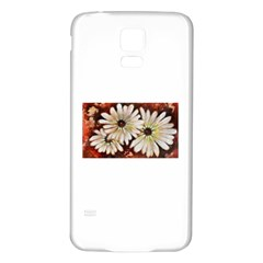 Fall Flowers No. 3 Samsung Galaxy S5 Back Case (White)