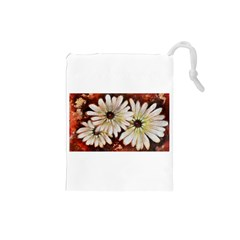 Fall Flowers No. 3 Drawstring Pouches (Small)
