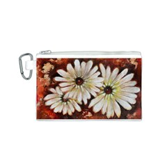 Fall Flowers No. 3 Canvas Cosmetic Bag (S)
