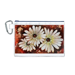 Fall Flowers No. 3 Canvas Cosmetic Bag (M)