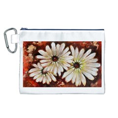 Fall Flowers No. 3 Canvas Cosmetic Bag (L)