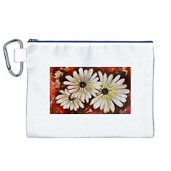Fall Flowers No. 3 Canvas Cosmetic Bag (XL)