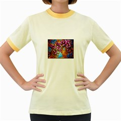 Fall Flowers No. 5 Women s Fitted Ringer T-Shirts