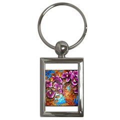 Fall Flowers No  5 Key Chains (rectangle)