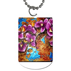 Fall Flowers No  5 Dog Tag (one Side)