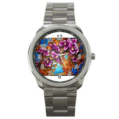 Fall Flowers No  5 Sport Metal Watches