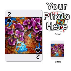 Fall Flowers No  5 Playing Cards 54 Designs