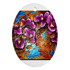 Fall Flowers No  5 Oval Ornament (two Sides)