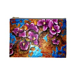 Fall Flowers No  5 Cosmetic Bag (large)