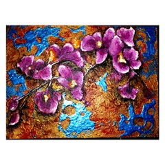 Fall Flowers No. 5 Birthday Cake 3D Greeting Card (7x5)