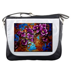 Fall Flowers No  5 Messenger Bags