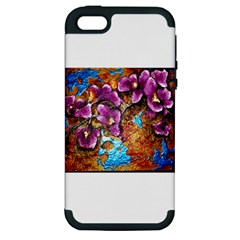 Fall Flowers No  5 Apple Iphone 5 Hardshell Case (pc+silicone)