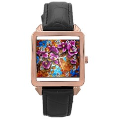 Fall Flowers No  5 Rose Gold Watches