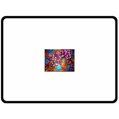 Fall Flowers No. 5 Double Sided Fleece Blanket (Large)
