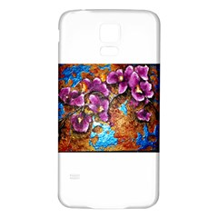 Fall Flowers No  5 Samsung Galaxy S5 Back Case (white)