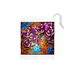 Fall Flowers No. 5 Drawstring Pouches (Small)