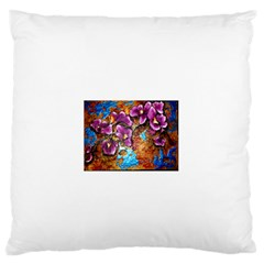 Fall Flowers No  5 Large Flano Cushion Cases (one Side)