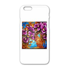 Fall Flowers No  5 Apple Iphone 6 White Enamel Case