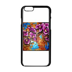 Fall Flowers No. 5 Apple iPhone 6 Black Enamel Case