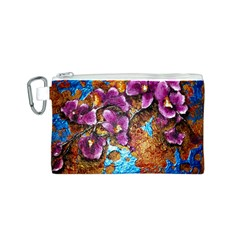 Fall Flowers No. 5 Canvas Cosmetic Bag (S)