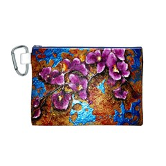 Fall Flowers No. 5 Canvas Cosmetic Bag (M)