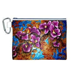 Fall Flowers No. 5 Canvas Cosmetic Bag (L)