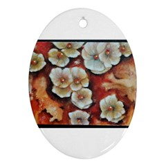 Fall Flowers No  6 Ornament (oval)