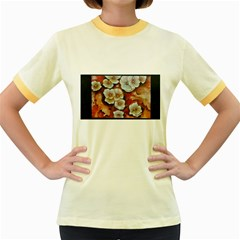 Fall Flowers No. 6 Women s Fitted Ringer T-Shirts