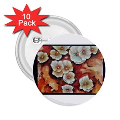 Fall Flowers No  6 2 25  Buttons (10 Pack)