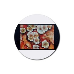 Fall Flowers No  6 Rubber Coaster (round)