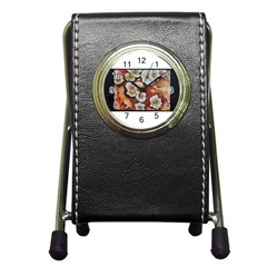 Fall Flowers No  6 Pen Holder Desk Clocks