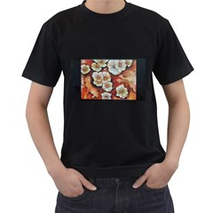 Fall Flowers No. 6 Men s T-Shirt (Black) (Two Sided)