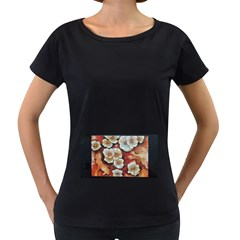 Fall Flowers No  6 Women s Loose Fit T Shirt (black)