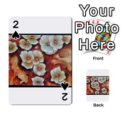 Fall Flowers No. 6 Playing Cards 54 Designs
