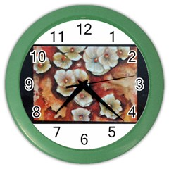 Fall Flowers No  6 Color Wall Clocks