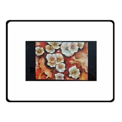 Fall Flowers No. 6 Fleece Blanket (Small)