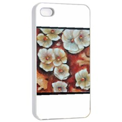 Fall Flowers No  6 Apple Iphone 4/4s Seamless Case (white)