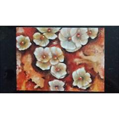 Fall Flowers No. 6 Birthday Cake 3D Greeting Card (7x5)