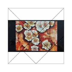 Fall Flowers No. 6 Acrylic Tangram Puzzle (6  x 6 )