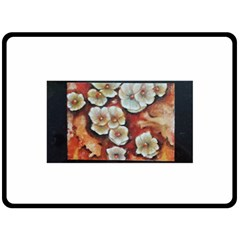 Fall Flowers No  6 Double Sided Fleece Blanket (large)