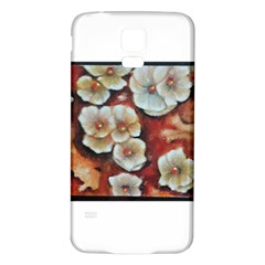 Fall Flowers No. 6 Samsung Galaxy S5 Back Case (White)