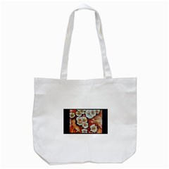 Fall Flowers No. 6 Tote Bag (White)