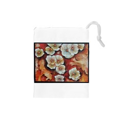 Fall Flowers No. 6 Drawstring Pouches (Small)